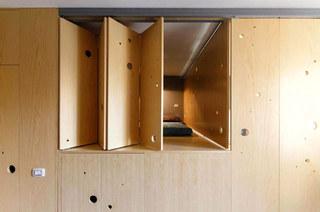 宜家风小公寓 创意卧室折叠门装修