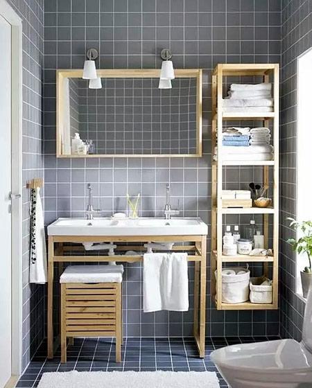 卫生间木质收纳架设计