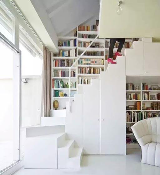楼梯空间收纳设计平面图