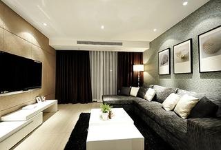 简约风格三居室效果图客厅设计
