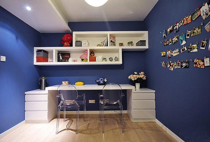简约风格三居室效果图书房装修图片