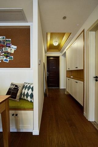 120平简约风格装修玄关柜图片