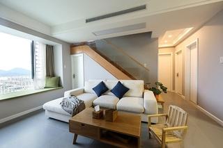 清新自然宜家风 复式客厅设计