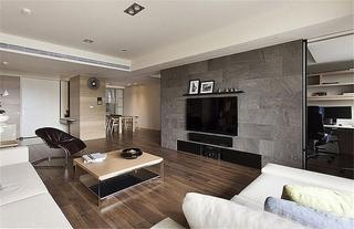 简约风格三室两厅装修电视背景墙效果图