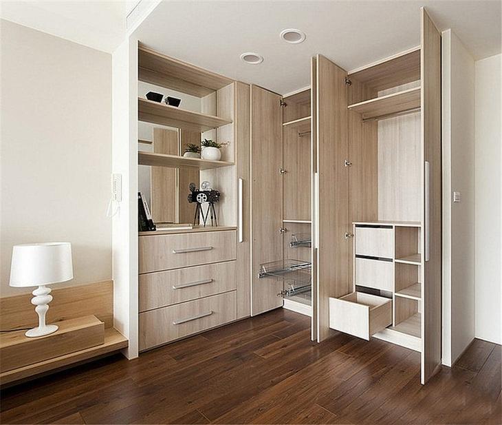 简约风格三室两厅装修整体衣柜装修