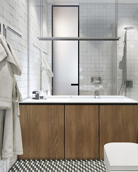 40平小户型公寓卫生间浴缸图片