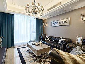 很低调的新古典风格  这套四居室很有气质