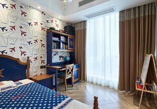 美式地中海风情儿童房效果图