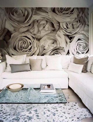 创意壁纸背景墙布置摆放图