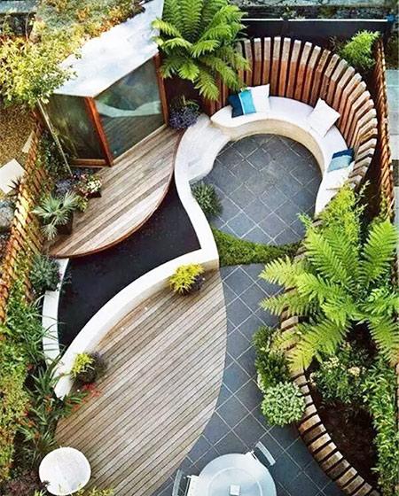 惬意庭院露台装修图