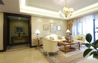 欧式风格三室两厅装修客厅效果图