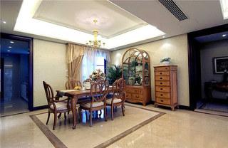欧式风格三室两厅装修餐厅设计