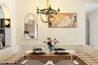 田园风格装修四居室餐厅设计