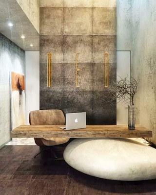 中式风格办公室内装修图