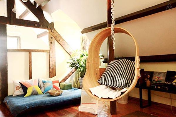 室内吊椅装修装饰效果图