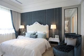 蓝白贵族气息欧式卧室效果图