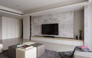 都市简约风客厅 大理石电视背景墙设计