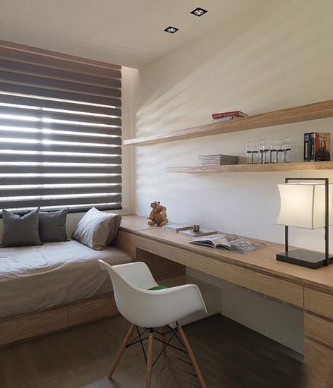 实木宜家新中式书房设计