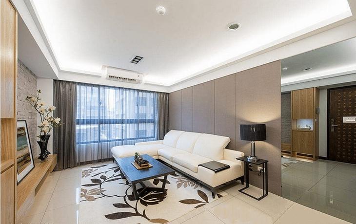 简约风格三室两厅装修客厅背景墙设计