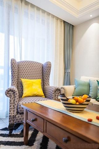 美式风格三居室装修布艺沙发图片