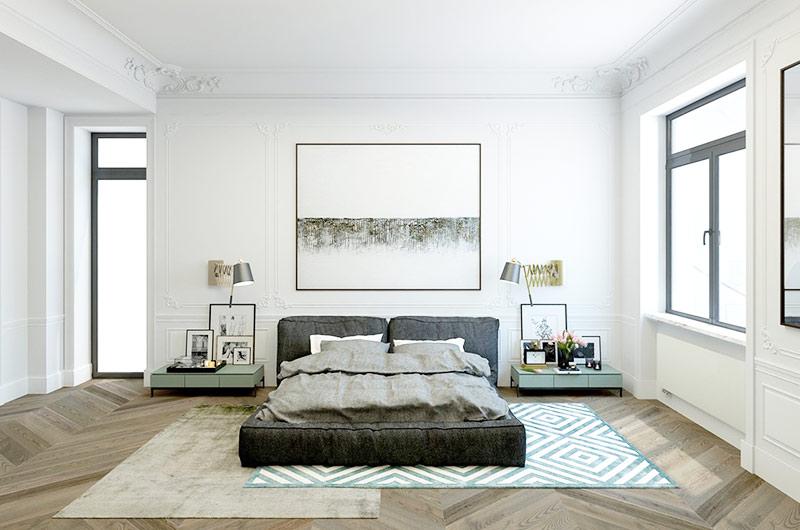 110平单身公寓卧室效果图
