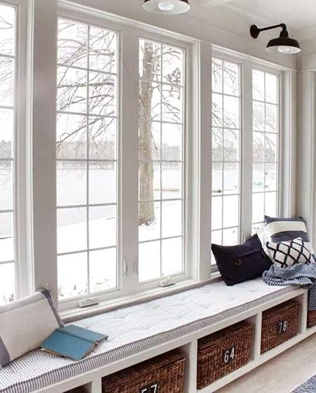 白色落地窗,皮氏门窗落地窗