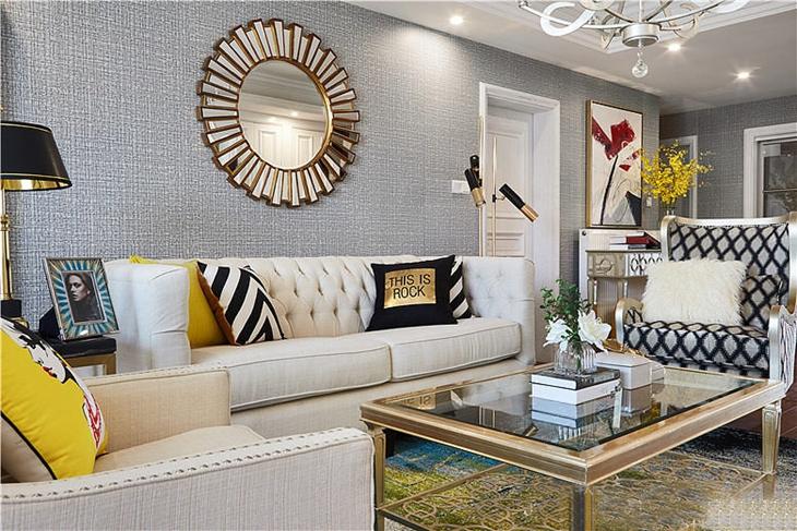 精美法式新古典 客厅背景墙设计
