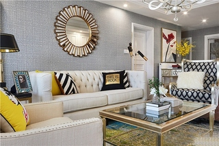 新古典风格三居室装修简约客厅装修
