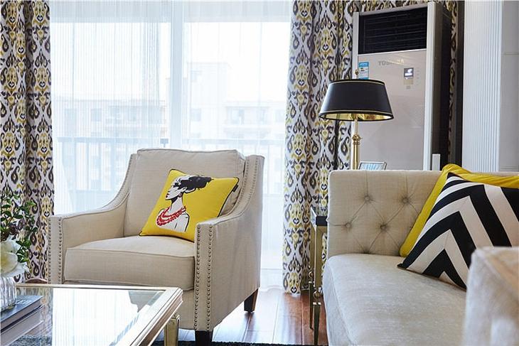 新古典风格三居室装修休闲沙发图片