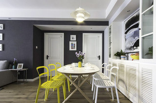 北欧风格三居餐厅装潢图