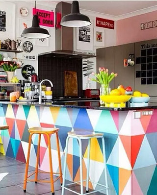 厨房吧台设计隔断图