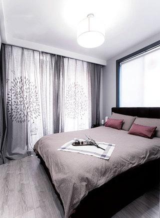 100㎡现代简约两居室卧室布置图