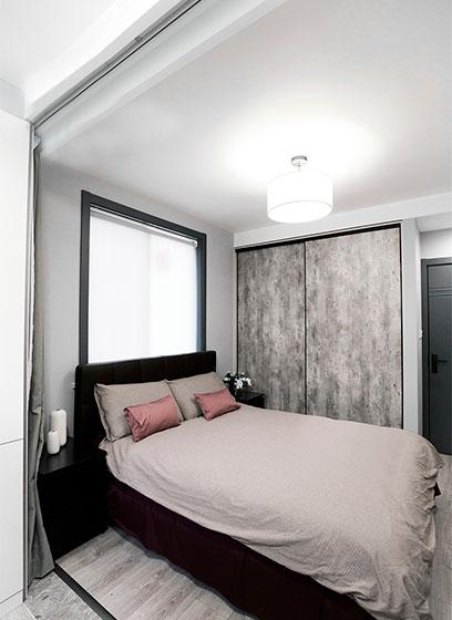 100㎡现代简约两居室卧室参考图