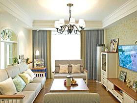 130平混搭风格三居室装修 暖暖的田园小调