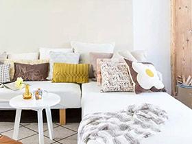 120平两室一厅旧房改造装修 木香萦绕
