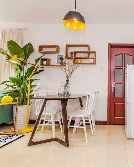 北欧风格单身公寓餐厅装潢图