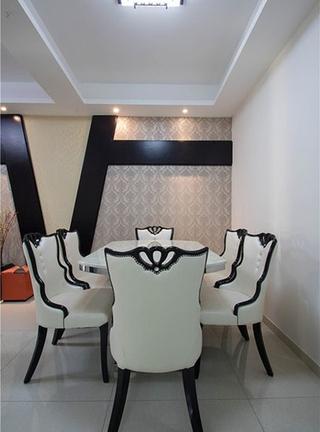 简约风格三居室装修餐厅壁纸图片