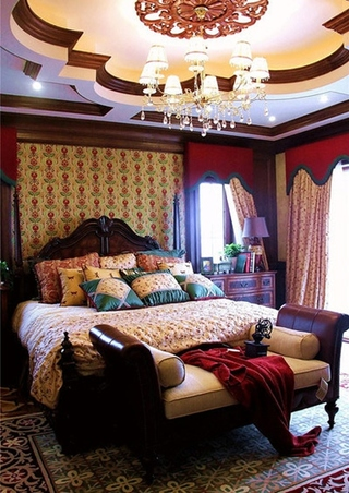 美式风格别墅装修卧室效果图