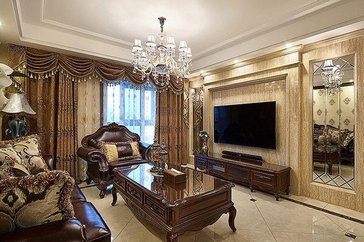 奢华古典美式客厅装饰大全