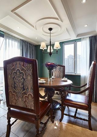 美式风格三室两厅装修餐厅设计效果图