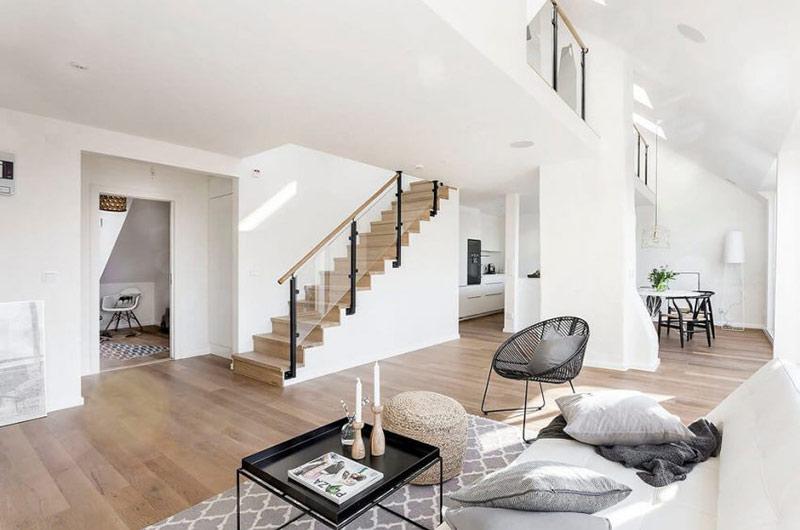 阁楼公寓楼梯装修设计