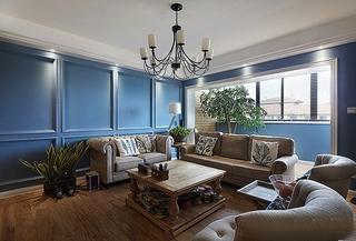 欧式风格小复式装修客厅效果图