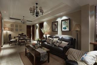 美式风格小三室装修休闲沙发图片
