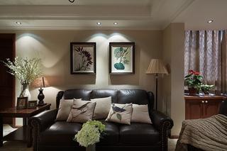 精致复古美式沙发照片墙设计