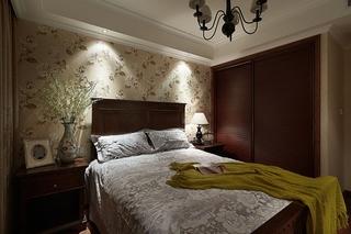 美式风格小三室装修卧室壁纸装修
