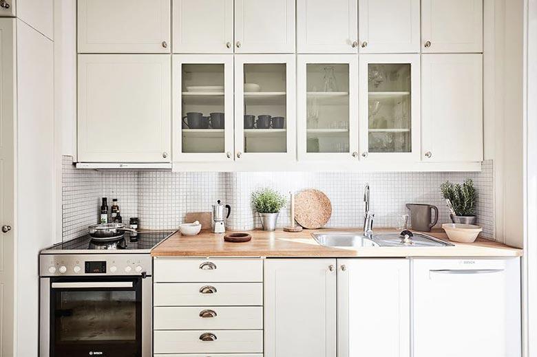 北欧风情公寓白色橱柜设计