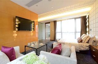 奢华简欧风卧室 带客厅背景墙设计