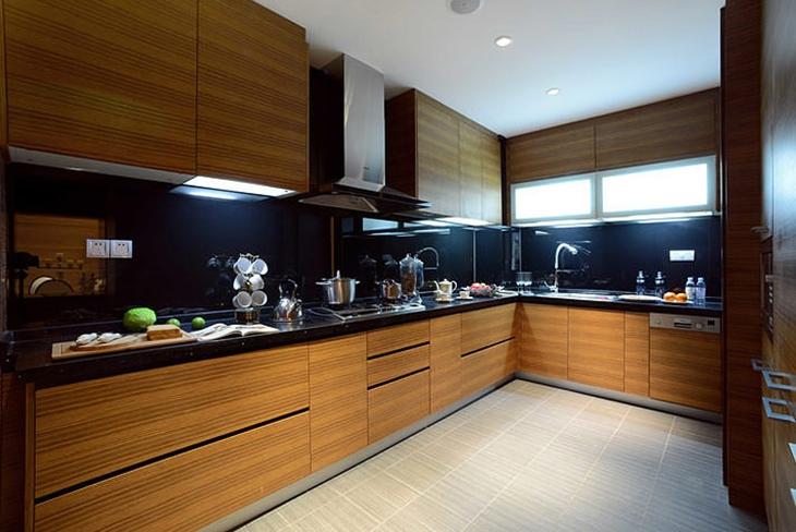 森系宜家风厨房 实木橱柜效果图