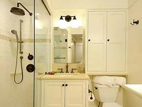 做个巧妙加减法  11个卫生间收纳设计图片