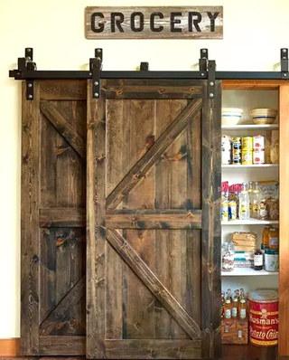 厨房橱柜谷仓门设计图